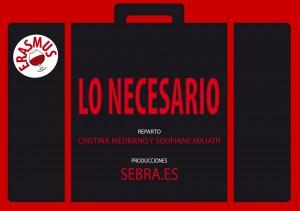 """Cartel del cortometraje """"Lo necesario"""""""